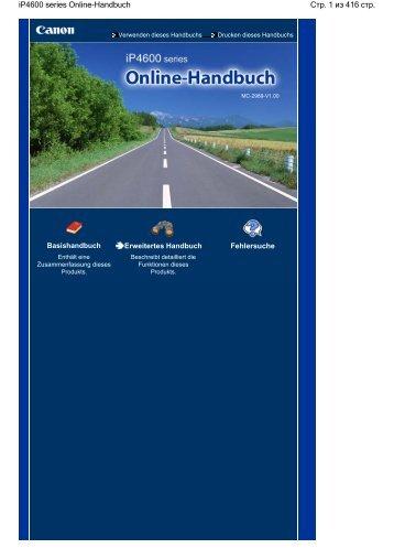 ip4600 series Online-Handbuch - Canon Europe