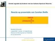Reactie op presentatie van Carolien Rieffe - Dr. Leo Kannerhuis