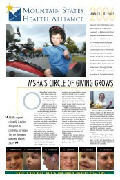 mshals circle of giving grows - Mountain States Health Alliance