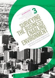 SURVEYING THE BUSINESS Enabling environment - The South ...