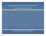 Investment Climate Assessment - The South African LED Network