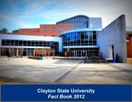 Clayton College and State University Fact Book