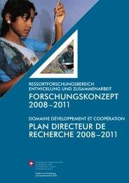 Forschungskonzept DEZA 2008 - 2011 - Ressortforschung des ...
