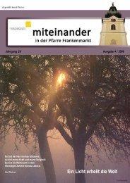 Ausgabe: 4 / 2009 - Pfarre Frankenmarkt