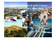 Abu Dhabi Triathlon und Dubai Erlebnis - Andrea Brede