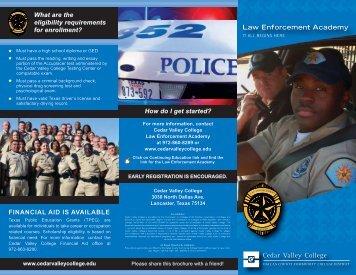 Law Enforcement Academy - Cedar Valley College