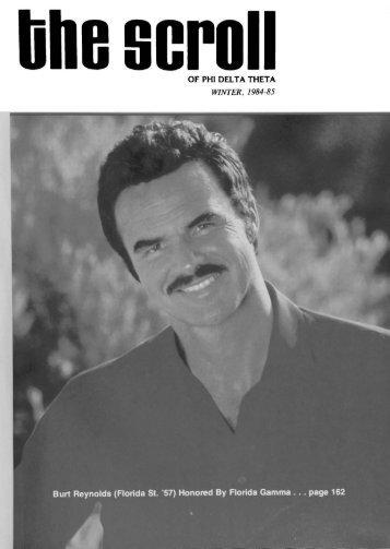 1984–85 Volume 108 No 1–5 - Phi Delta Theta Scroll Archive