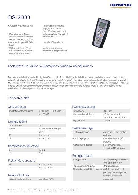 DS-2000, Olympus, Professional Dictation