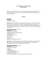 2007 Smithsonian Folklife Festival Mekong Recipes Please Note ...