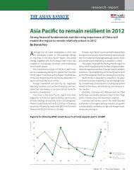 Asia Pacific to remain resilient in 2012 - The Asian Banker