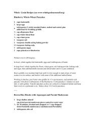 Whole Grain Recipes (see www.wholegrainscouncil.org) Blueberry ...