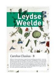 Carolus Clusius - B - Museum Boerhaave