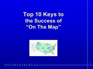 Top 10 Keys to the Success of OnTheMap