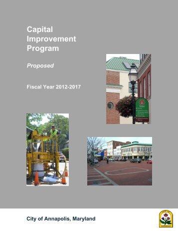 Capital Improvement Program - City of Annapolis