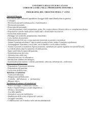 Programma tirocinio I-II-III anno - Medicina