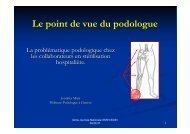 Le point de vue du podologue - Société Suisse de Stérilisation ...