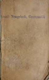 Grammatik, Texte, Glossar