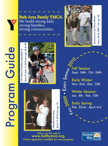 Program GuideProgram Guide - the Bath Area Family YMCA