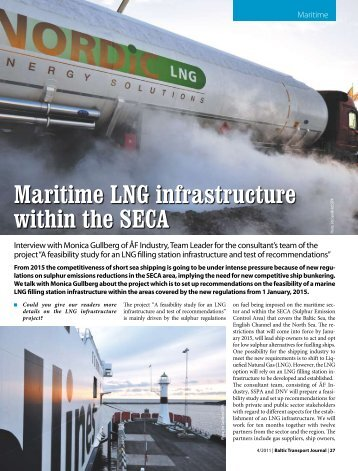 Maritime LNG infrastructure within the SECA - Baltic Press