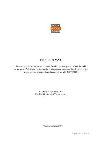 Analiza wyników badań wizerunku Polski i postrzegania ... - Gdansk4u