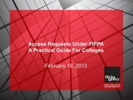 Access Requests Under FIPPA A Practical Guide For ... - Hicks Morley