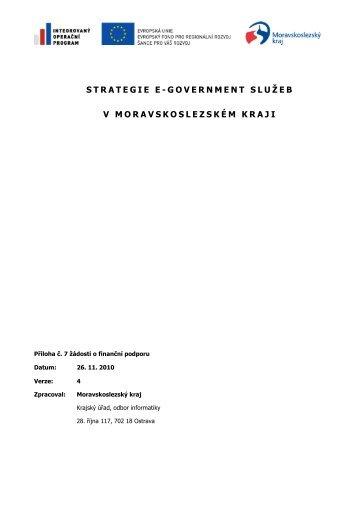 Strategie e-Government služeb v ... - Veřejná správa