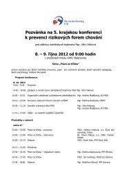 Pozvánka na 5. krajskou konferenci k prevenci rizikových forem ...