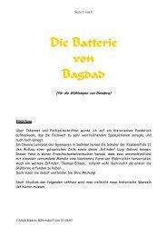 Die Batterie von Bagdad - Bplaced.net