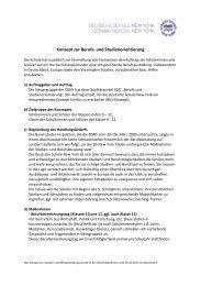Konzept zur Berufs- und Studienorientierung - Deutsche Schule ...