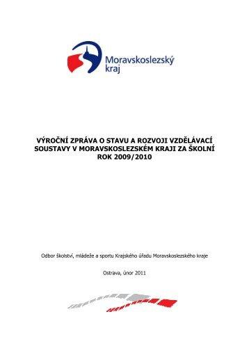 Výroční zpráva o stavu a rozvoji vzdělávací soustavy v ...