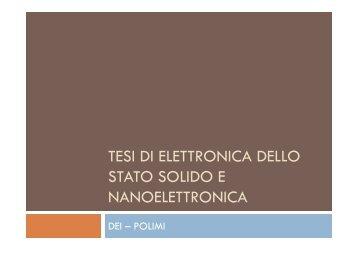 tesi di elettronica dello stato solido e ... - home page corsi