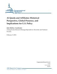 Al Qaeda and Affiliates: Historical Perspective, Global ... - Open CRS