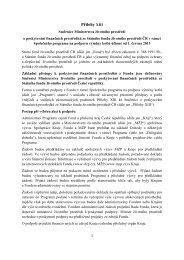 Přílohy XIII Směrnice Ministerstva životního prostředí č. 6/2010