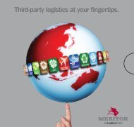 Third-party logistics at your fingertips - Meritor