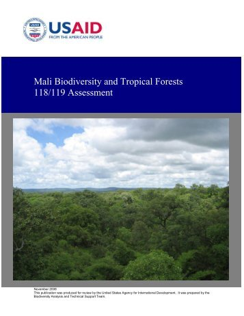 Mali Biodiversity and Tropical Forests 118/119 Assessment