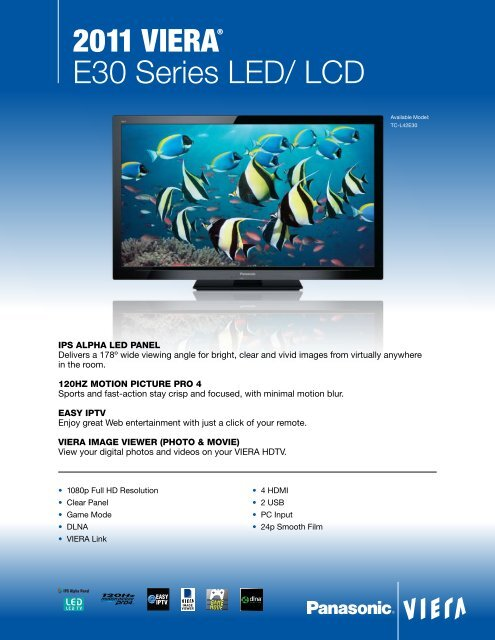 2011 Viera® E30 Series LED/ LCD - One Call