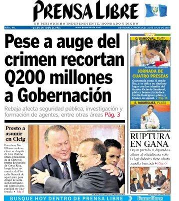 RUPTURA EN GANA - Prensa Libre