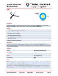 Specification - Tributaries Cable