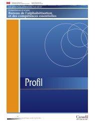 Profil des compétences essentielles - Base de données en ...