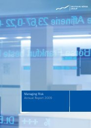 Managing Risk Annual Report 2009 - paperJam