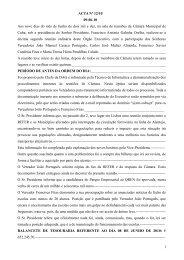 ACTA Nº 12/10 09-06-10 Aos nove dias do mês de Junho de dois ...