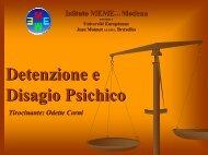 Detenzione e Disagio Psichico - Istituto Meme S.r.l.