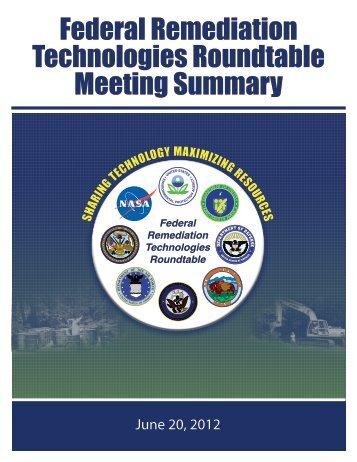FRTR meeting summary - Federal Remediation Technologies ...