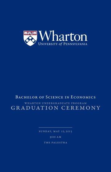 Download Undergraduate 2013 Graduation Program - The Wharton ...