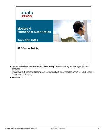 Module 4: Functional Description