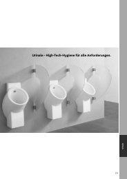 Urinale - High-Tech-Hygiene für alle Anforderungen.