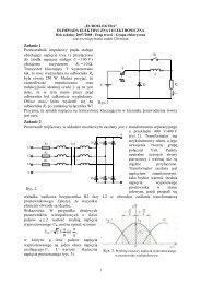 Zadania dla grupy elektrycznej III etapu X EUROELEKTRY - SEP