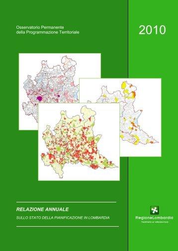 RELAZIONE ANNUALE - Regione Lombardia