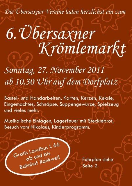 Krömlemarkt-Flyer - Vorderland