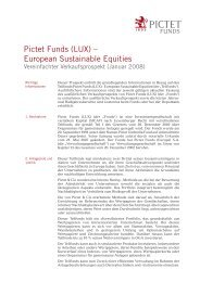 Pictet Funds (LUX) – European Sustainable ... - Samuel Begasse